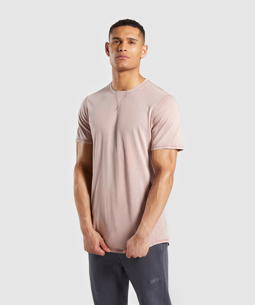 Gymshark Laundered T-Shirt - Nude 1