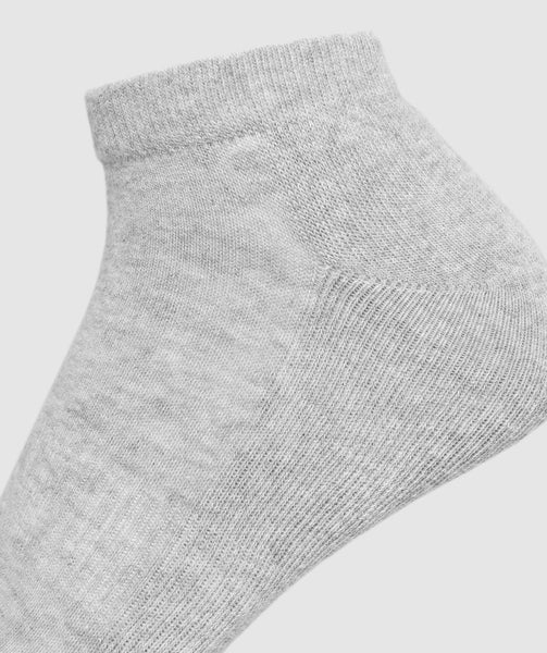 Gymshark Mens Trainer Socks (3pk) - White/Grey Marl/Black 3