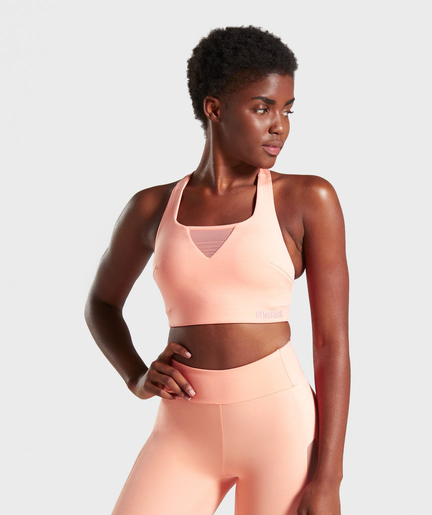 Gymshark Move Sports Bra - Peach 1