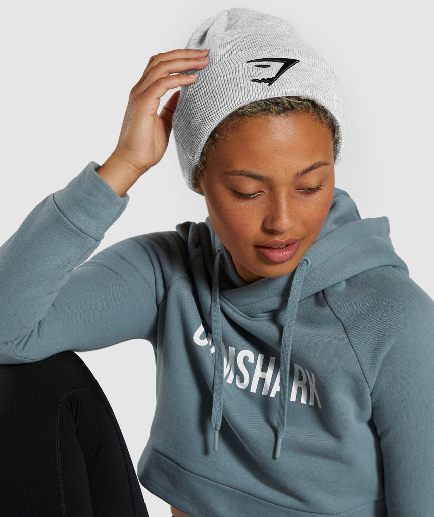 Gymshark New Era Sharkhead Cuff Knit - Grey 1