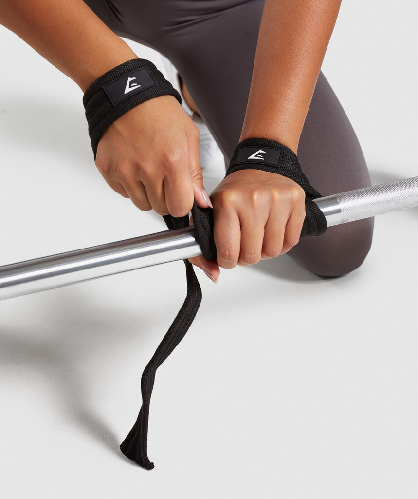 Gymshark Padded Lifting Straps - Black 1