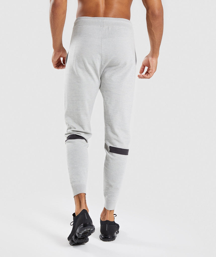 Gymshark Pinnacle Knit Joggers - Light Grey Marl 2
