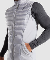 Gymshark Power Lightweight Gilet - Light Grey 11
