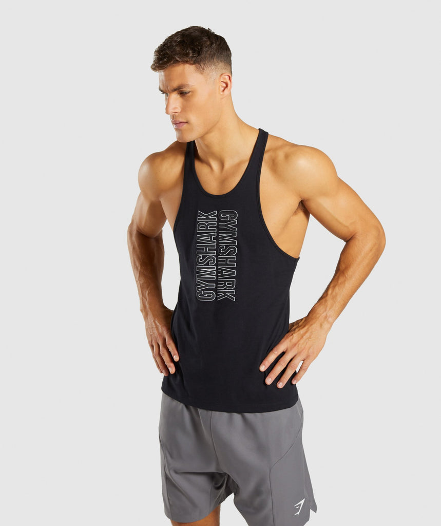 Gymshark Profile Stringer - Black 1