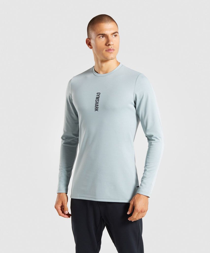 Gymshark Raid Long Sleeve T-Shirt - Light Blue 1