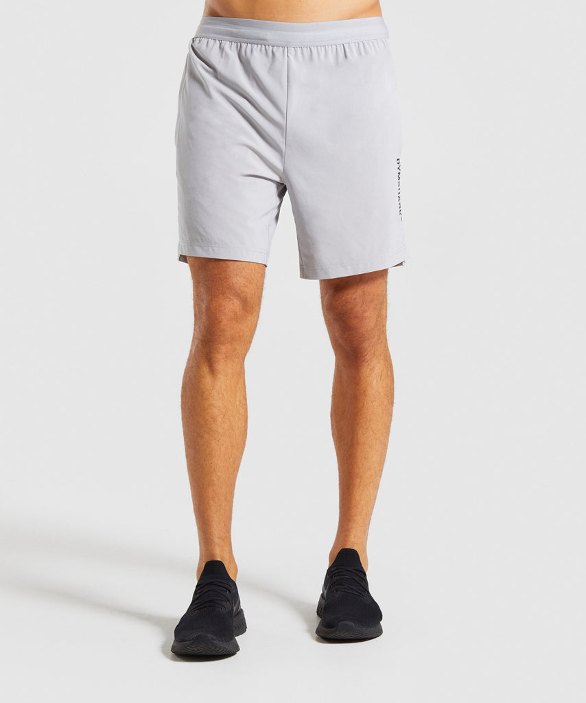 Gymshark Raid Shorts - Light Grey 1