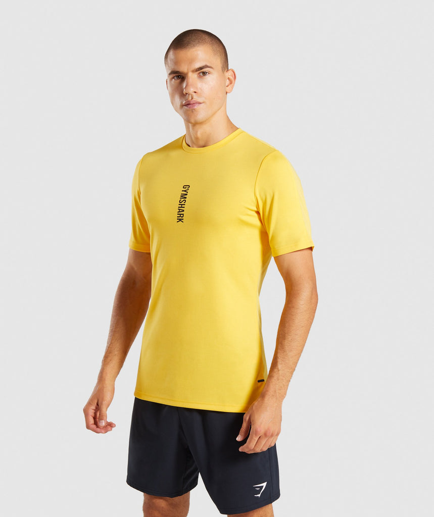 Gymshark Raid T-Shirt - Yellow 1