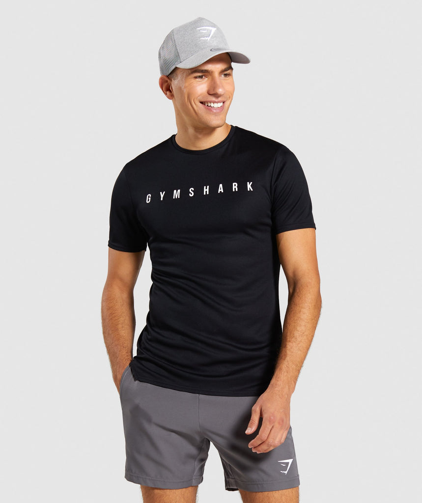 Gymshark Recharge T-Shirt - Black 1
