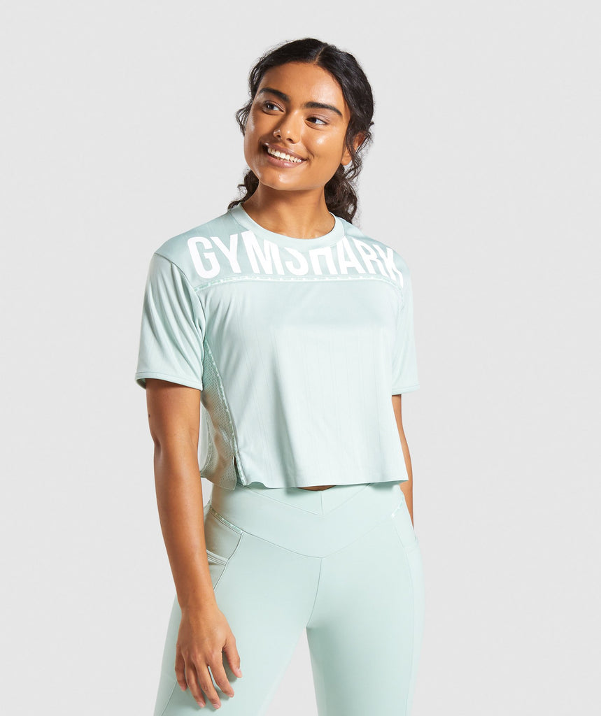 Gymshark Recess Crop Top - Light Green 1
