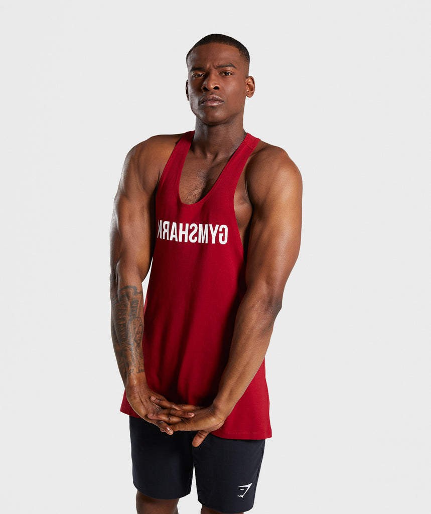 Gymshark Reverse Stringer - Full Red 1