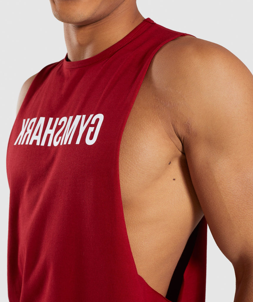 Gymshark Reverse Tank - Full Red 5