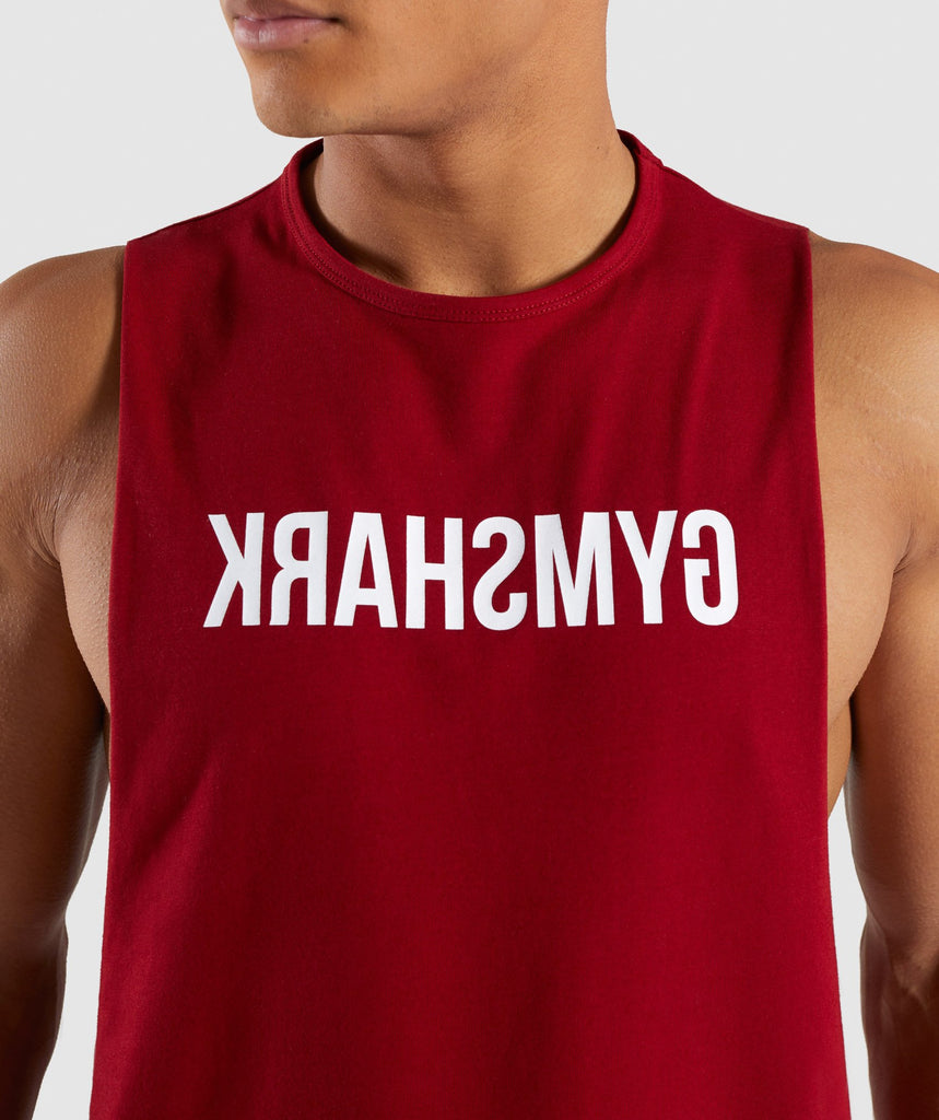 Gymshark Reverse Tank - Full Red 6