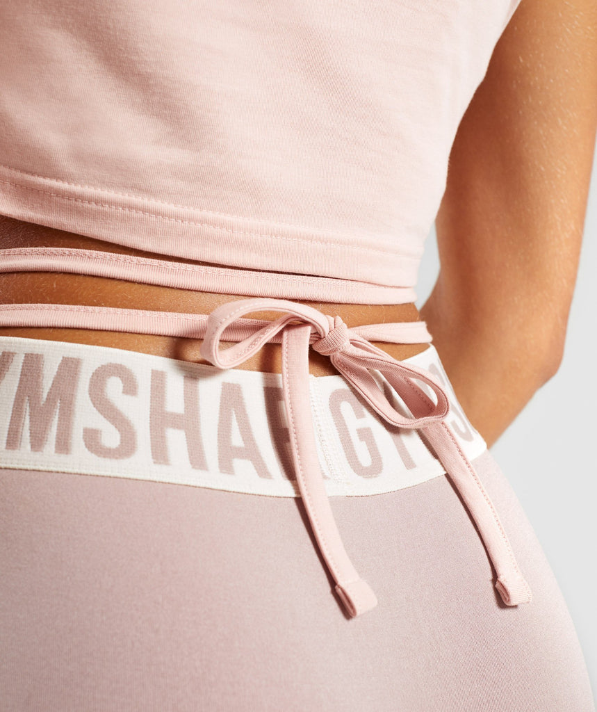 Gymshark Ribbon Capped Sleeve Crop Top - Blush Nude 5