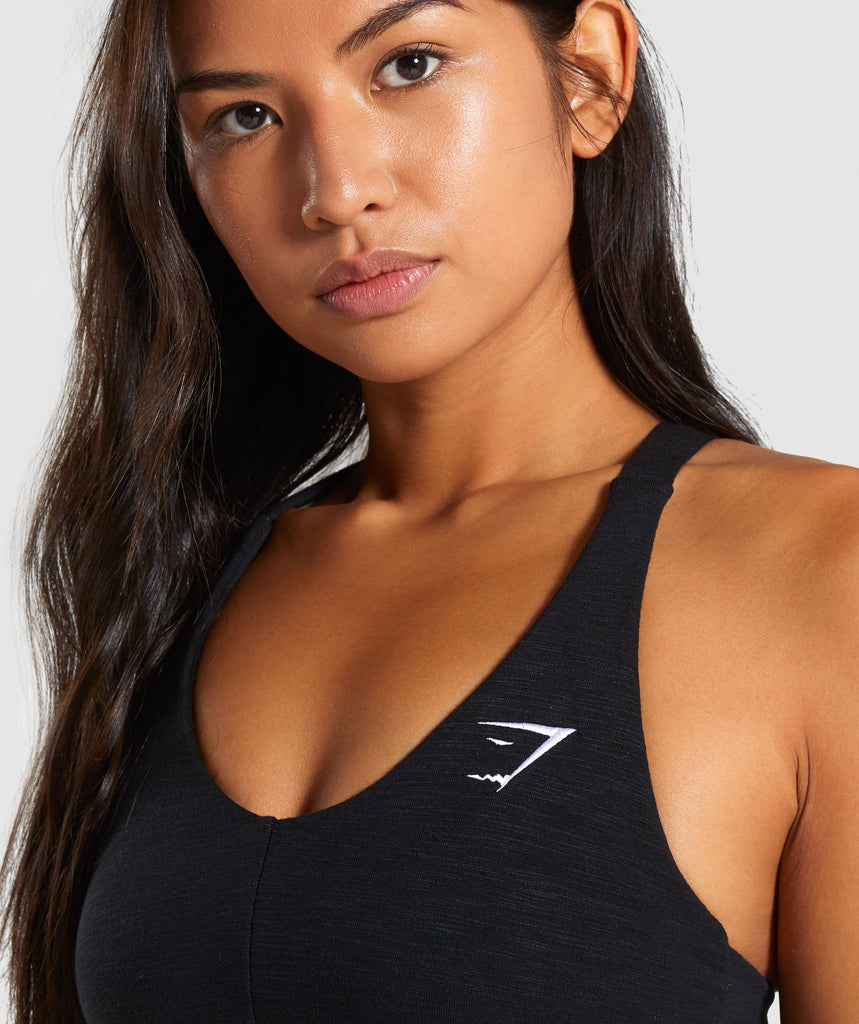 Gymshark Ruched Sports Bra - Black 6