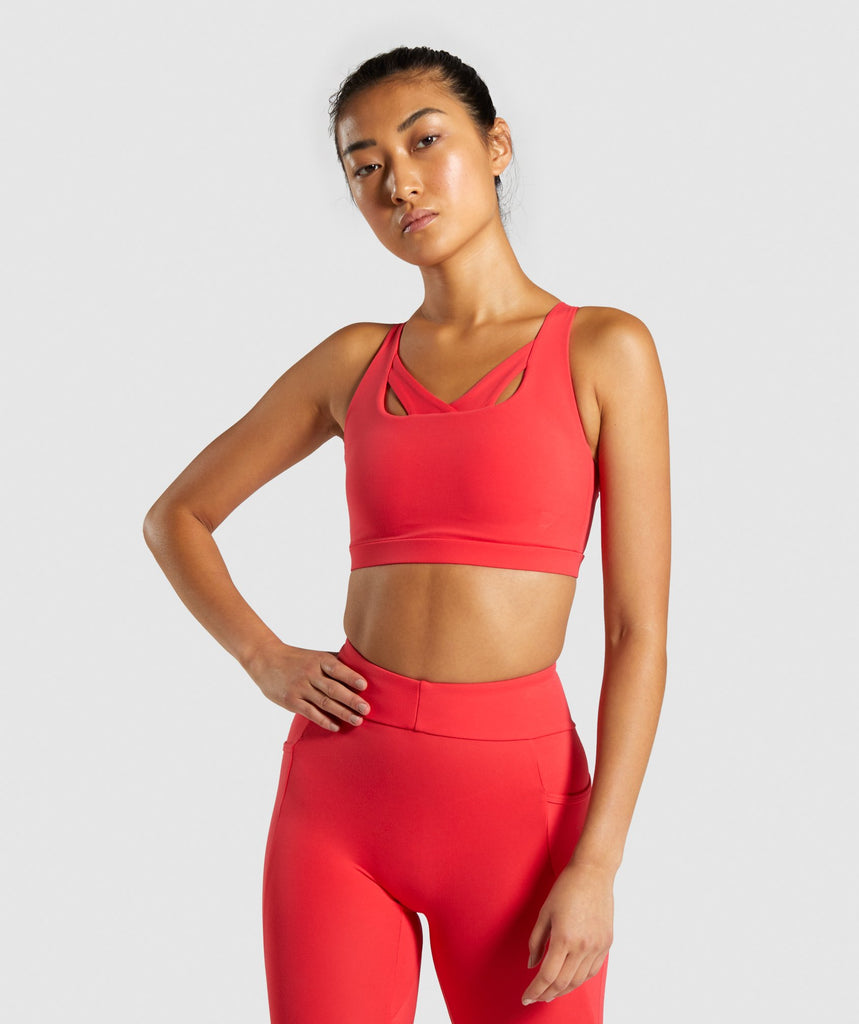 Gymshark Sculpt Sports Bra - Red 1