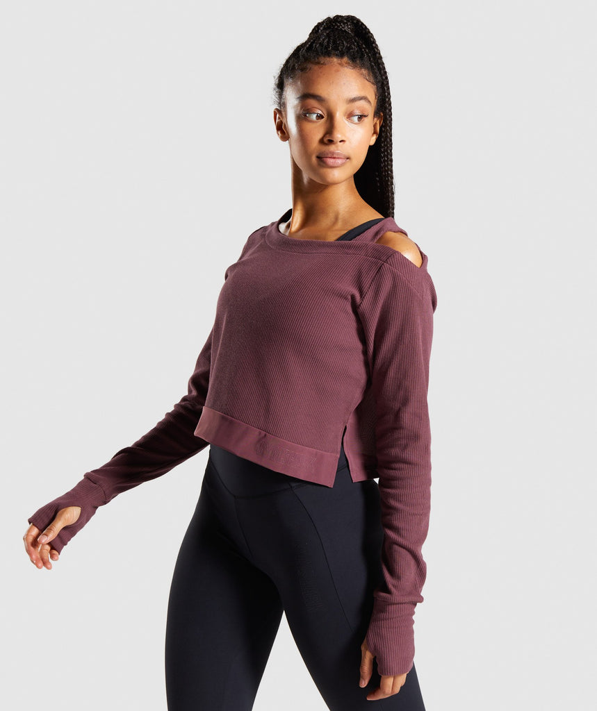 Gymshark Studio Sweater - Berry Red 1