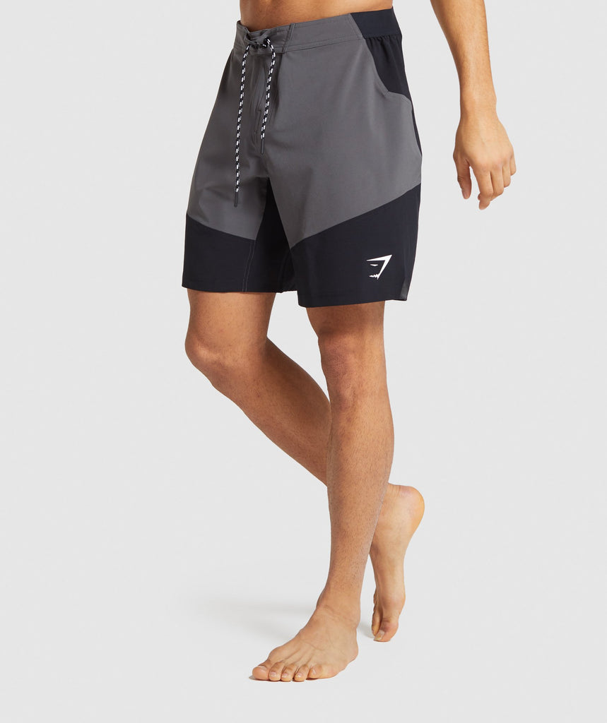 Gymshark Swim Board Shorts - Charcoal/Black 1