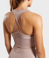 Gymshark Energy Seamless Crop Vest - Taupe 12