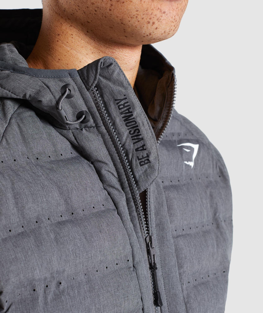 Gymshark Sector Jacket V2 - Charcoal Marl 5