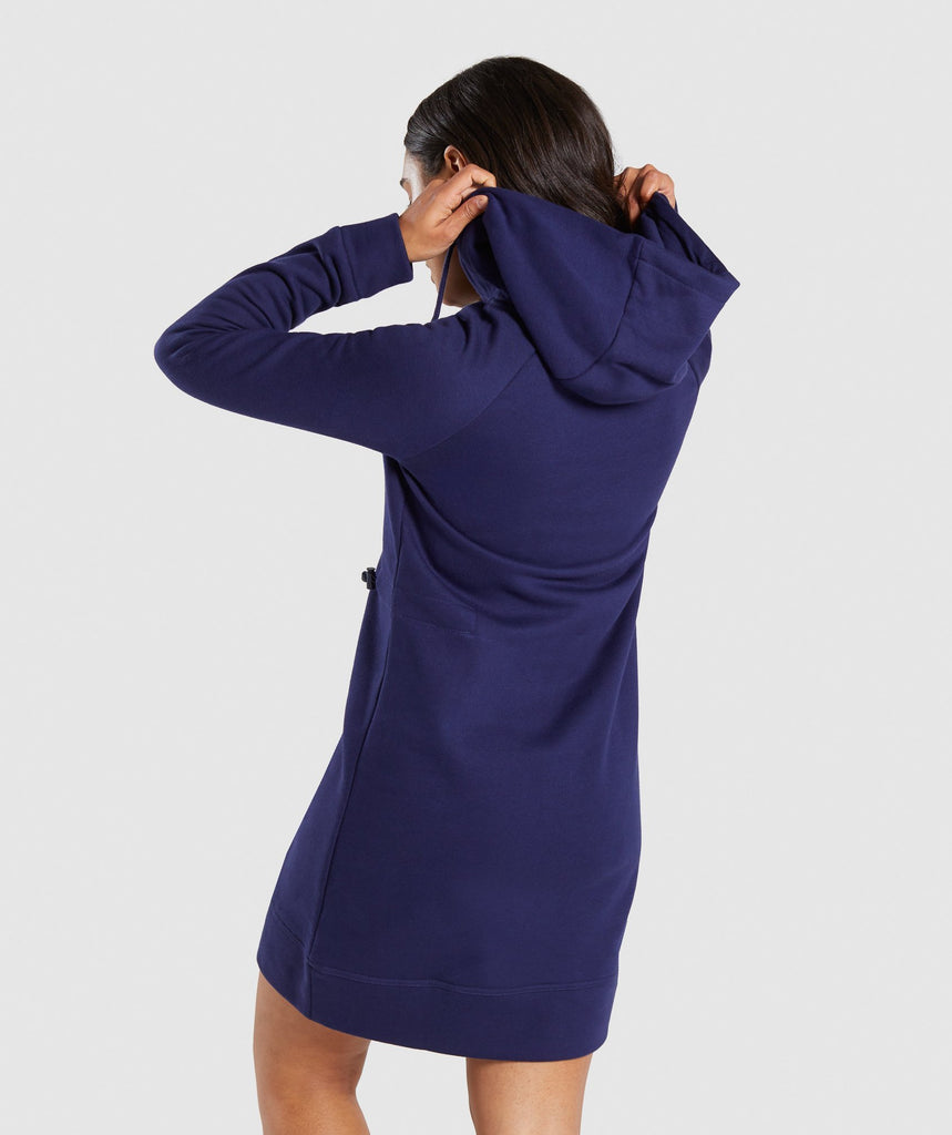 Gymshark Slim Fit Hooded Dress - Evening Navy Blue 2