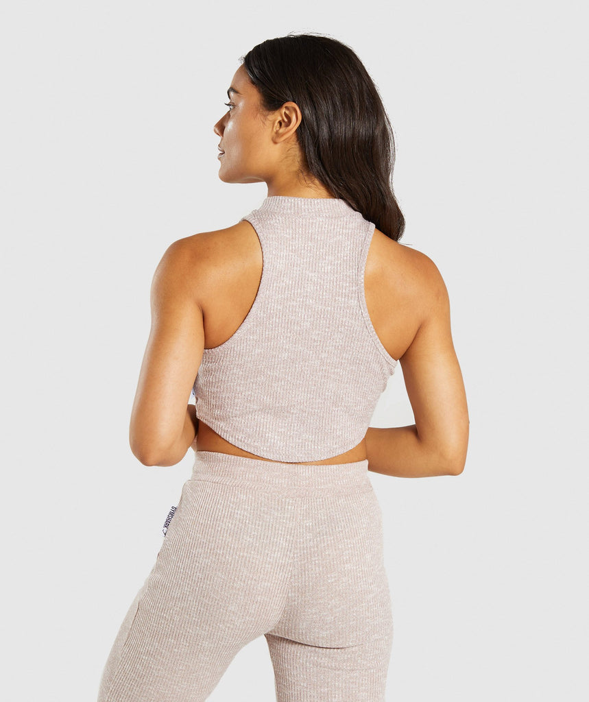 Gymshark Slounge Crop Top - Taupe Marl 2