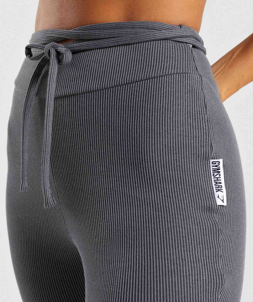 Gymshark Slounge Ribbon Bottoms - Charcoal Marl 4