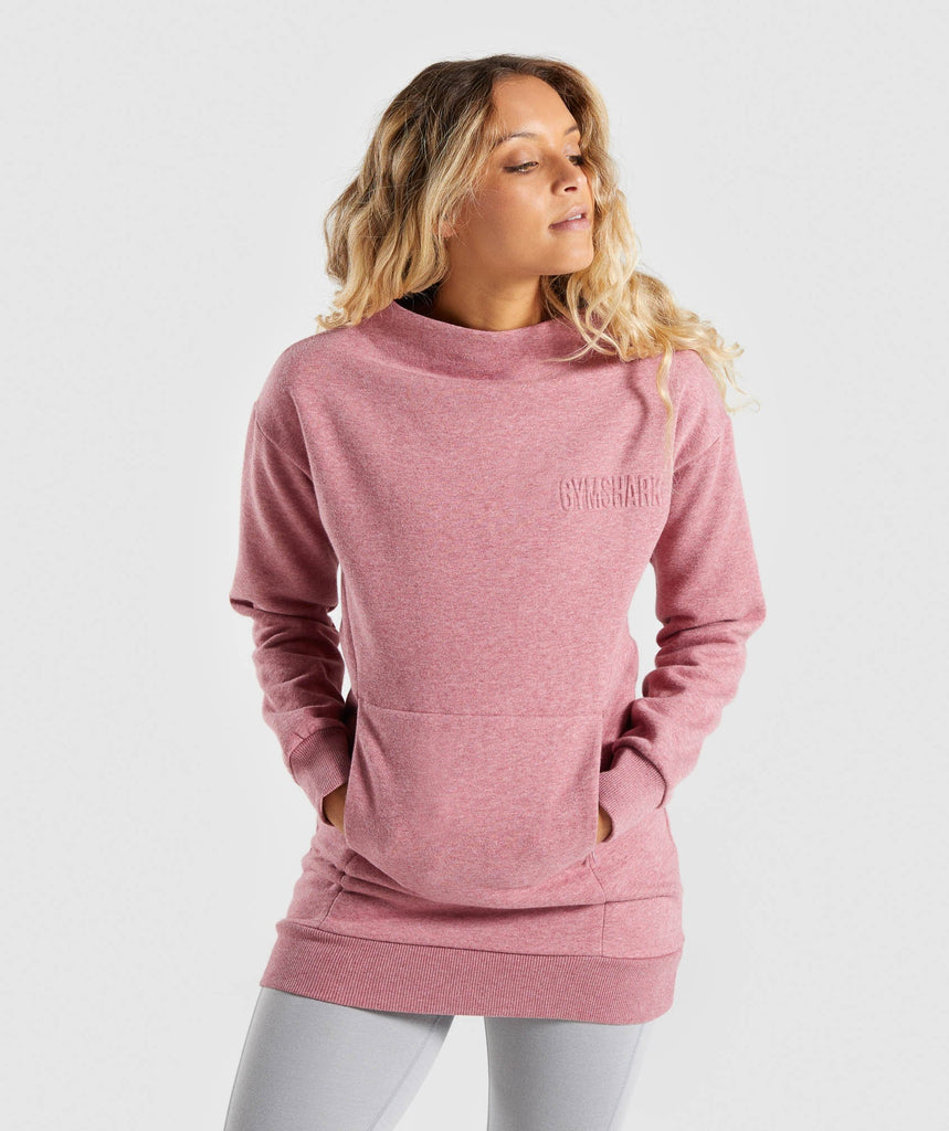 Gymshark So Soft Sweater - Dusky Pink Marl 1