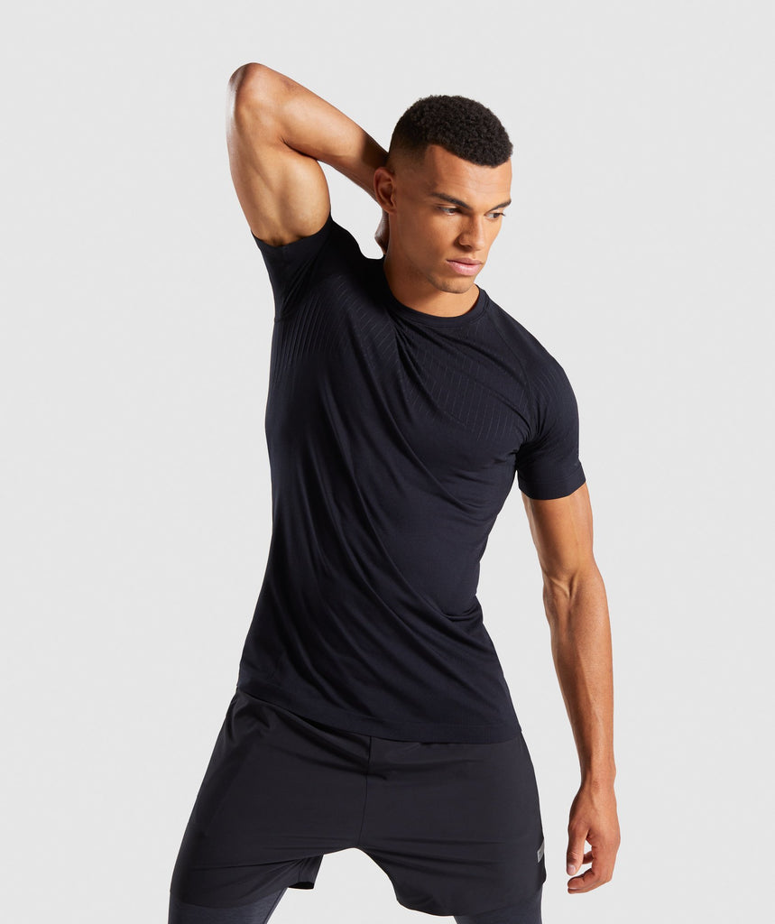 Gymshark Superior Lightweight Seamless T-Shirt - Black 1