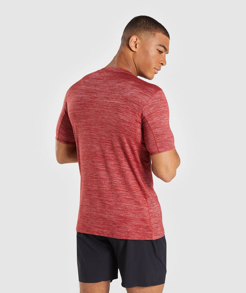 Gymshark Swerve T-Shirt - Full Red Marl 1