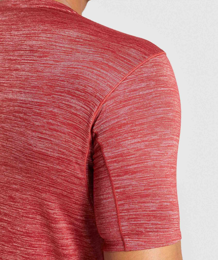 Gymshark Swerve T-Shirt - Full Red Marl 5