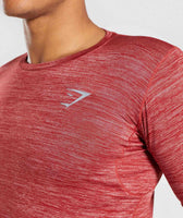 Gymshark Swerve T-Shirt - Full Red Marl 12