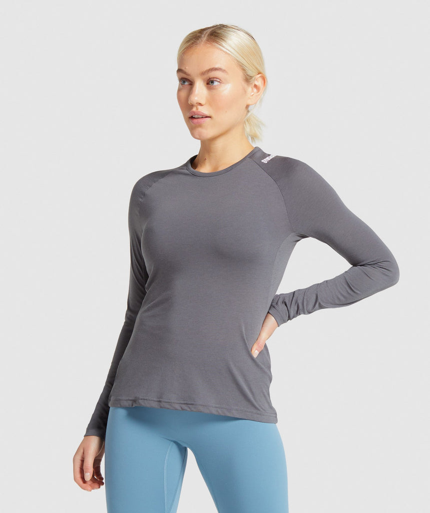 Gymshark Training Long Sleeve Top - Charcoal 1