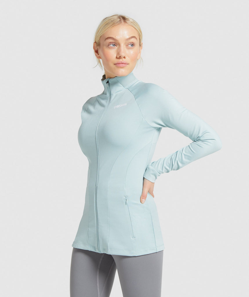 Gymshark Training Zip Up Jacket - Light Green 1