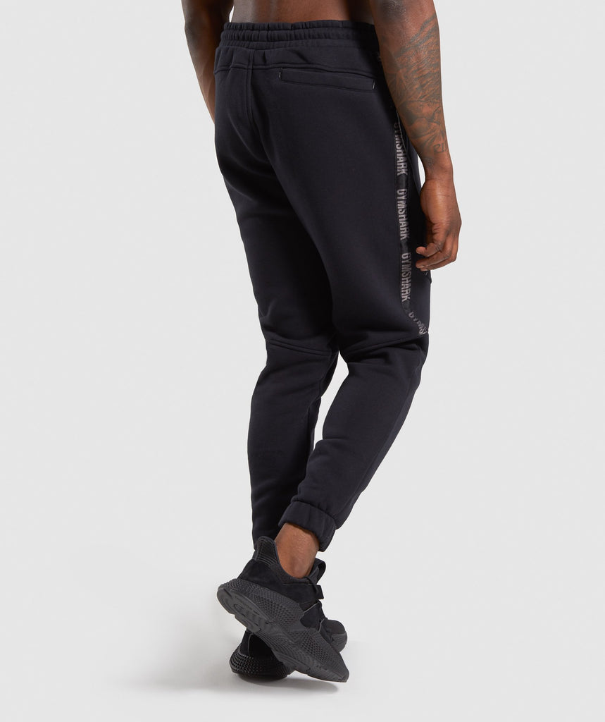 Gymshark Taped Joggers - Black 2
