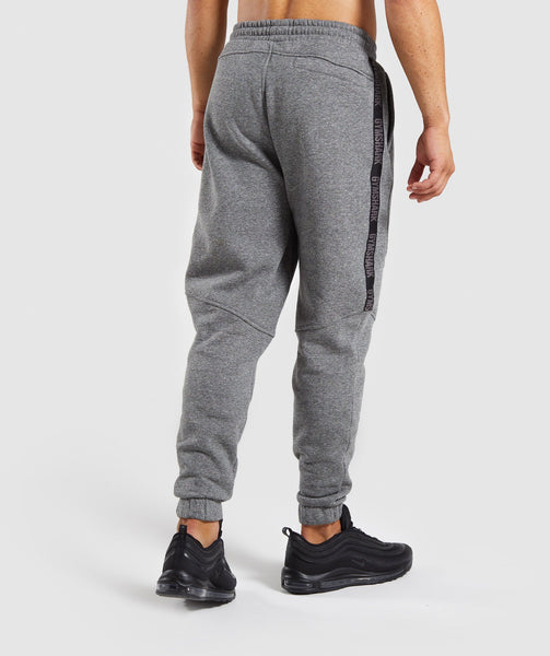 Gymshark Taped Joggers - Grey Marl 4