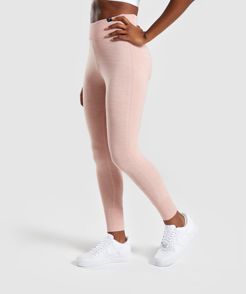 Gymshark Time Out Knit Joggers - Blush Nude 2