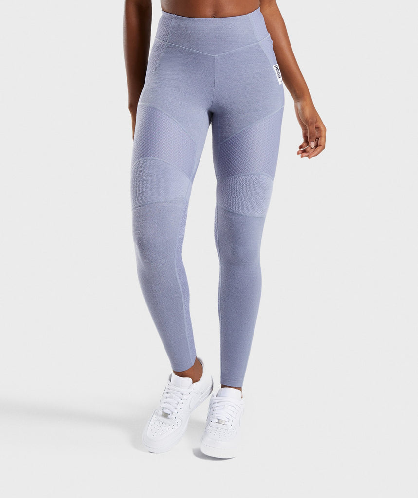 Gymshark True Texture Leggings - Steel Blue 1