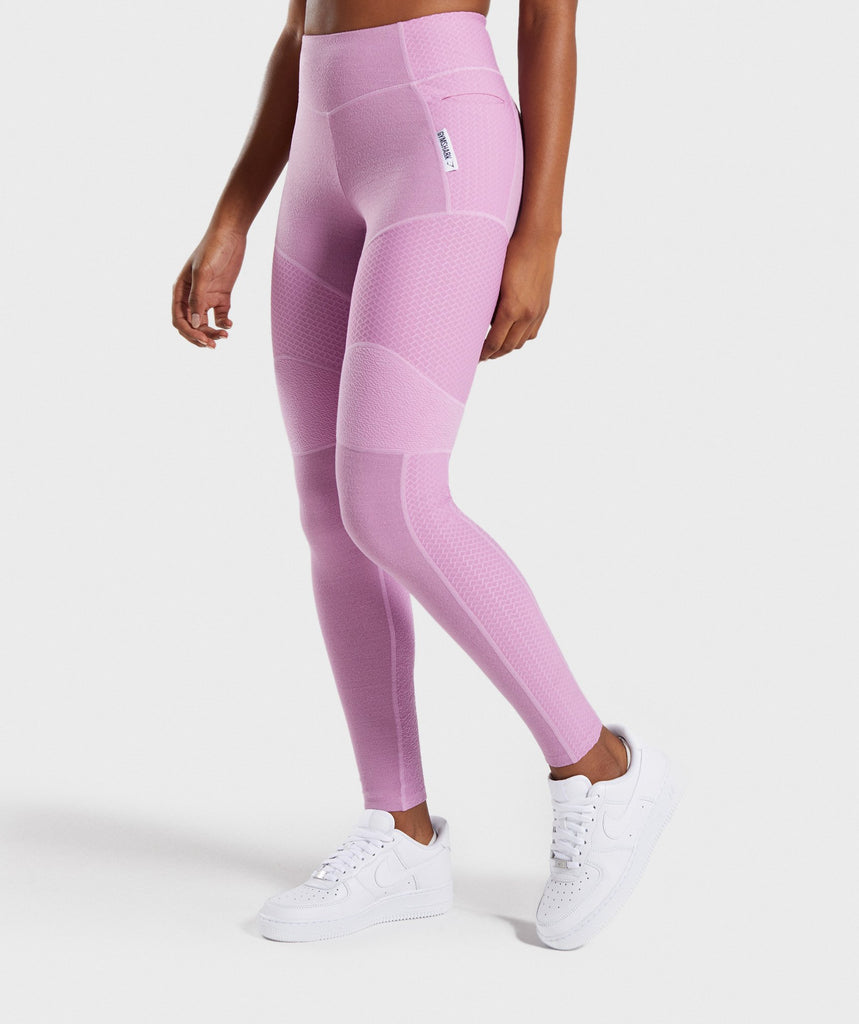 Gymshark True Texture Leggings - Pink 1