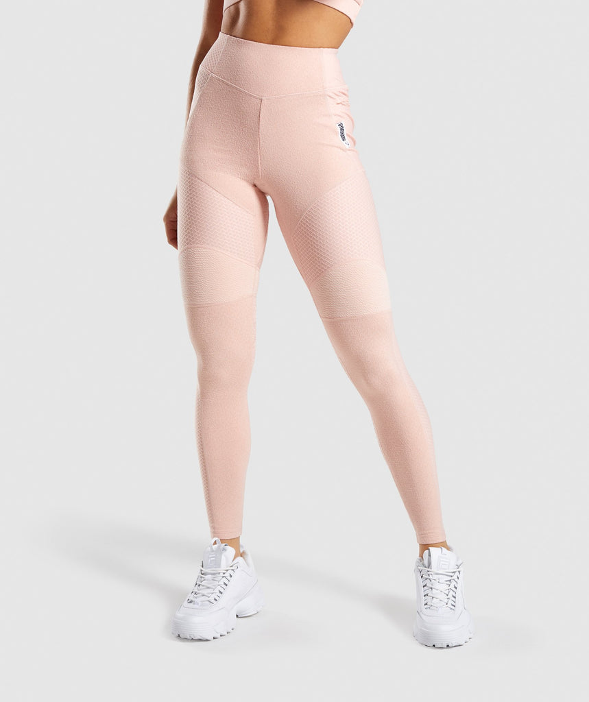 Gymshark True Texture Leggings - Blush Nude 1