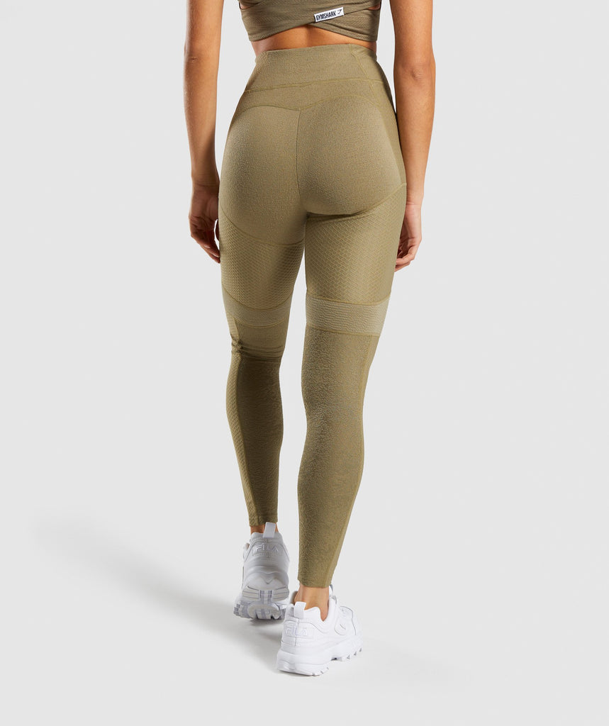 Gymshark True Texture Leggings - Washed Khaki 2