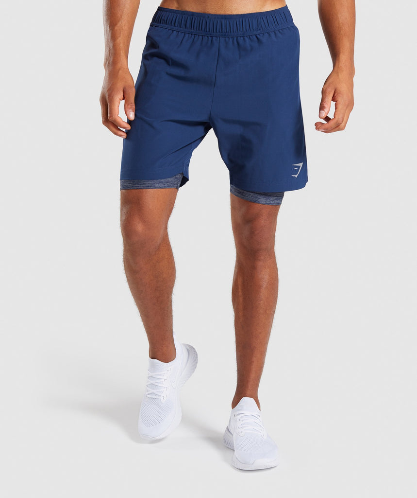 Gymshark 2 In 1 Training Shorts - Sapphire Blue 4