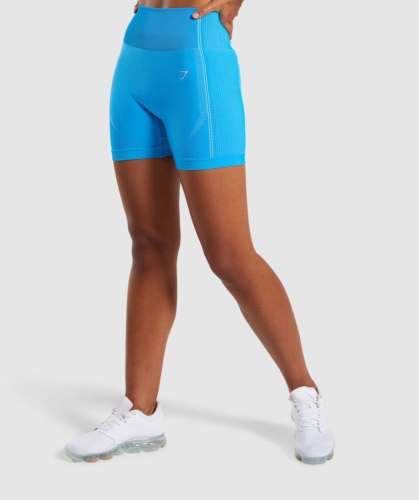 Gymshark Ultra Seamless Shorts - Blue 1