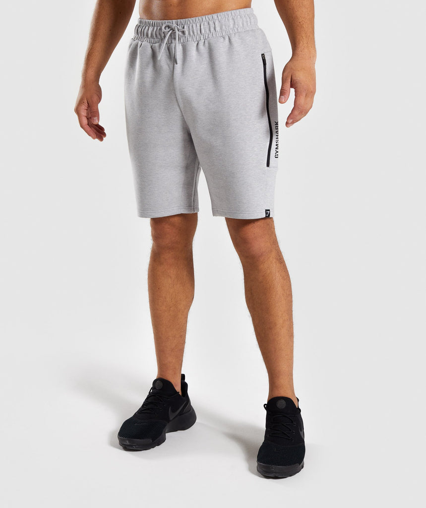Gymshark Ultra Shorts - Light Grey Marl 1