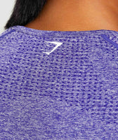 Indigo Marl Vital Seamless Long Sleeve T-Shirt Logo From Behind 12