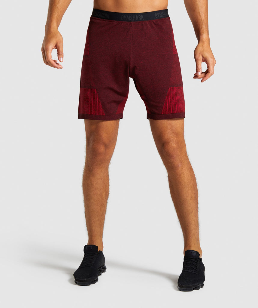 Gymshark Vital Seamless Shorts - Red 1