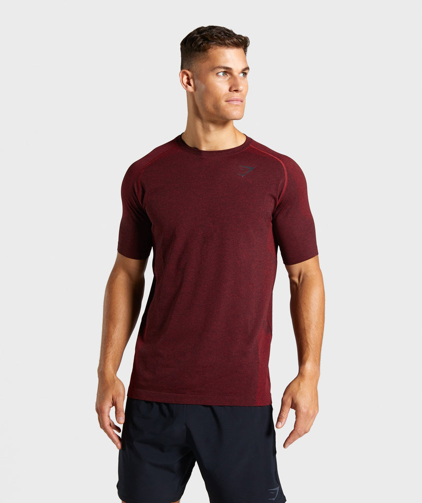 Gymshark Vital Seamless T-Shirt - Red 1