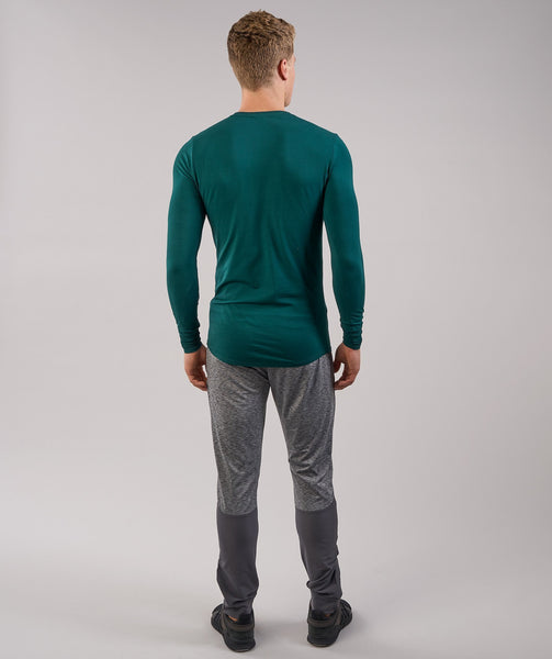 Gymshark Ark Long Sleeve T-Shirt - Forest Green 1