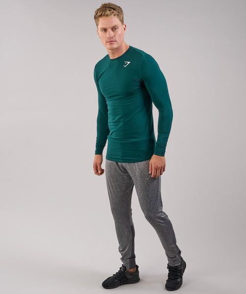 Gymshark Ark Long Sleeve T-Shirt - Forest Green 2