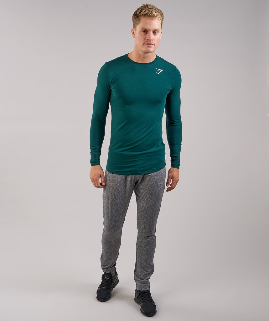 Gymshark Ark Long Sleeve T-Shirt - Forest Green 5