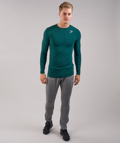 Gymshark Ark Long Sleeve T-Shirt - Forest Green 4